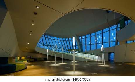 Inside of King Abdulaziz Center for World Culture (Ithra) City :Dammam, Country : Saudi Arabia. Photo was taken on Month of November 23 year 2018.
