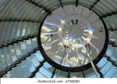Inside lighthouse - light on the top