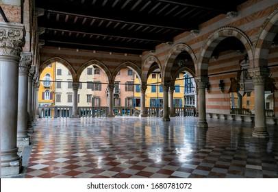 Inside of Loggia del Lionello, Udine, Friuli Venezia Giulia, Italy.