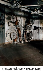 Inside the long derelict coal power plant at the abandoned Indiana Army Ammunition Plant in Indiana.