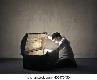 Inside the magic casket