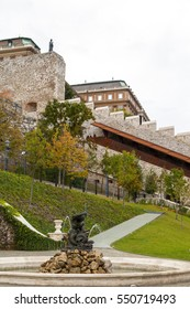 Inside the medieval Budapest Castle, the historical castle and palace complex of the Hungarian kings in Budapest, and was first completed in 1265, listed by UNESCO as a World Heritage.
