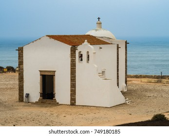 Inside the Medieval Fortress Sagres the most south-western cape of Europe. Southwest coast of Portugal.