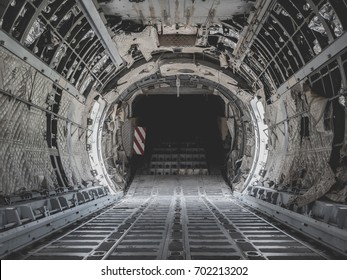inside military transport plane