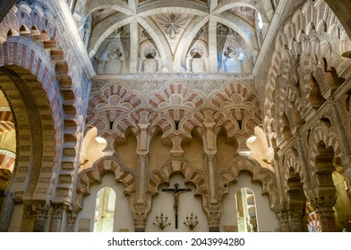 Inside the mosque-cathedral of Córdoba, built during the Caliphate of Cordoba and renovated by the Christians in the 13th century.