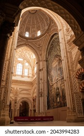 Inside the mosque-cathedral of Córdoba, built during the Caliphate of Cordoba and renovated by the Christians in the 13th century. Detail of the cathedral main place.