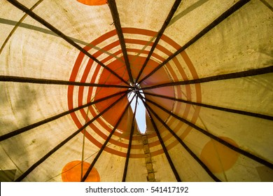Inside of Native Canadian Tipi