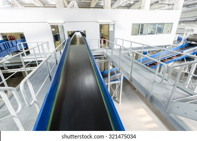 Inside of a new modern biomass waste plant. As an energy source, biomass is used directly via combustion to produce heat and indirectly after converting it to various forms of biofuel.