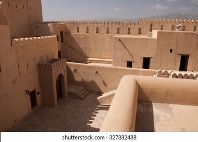 Inside of the Nizwa Fort in Nizwa, Oman