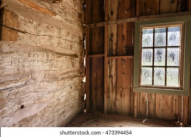 Inside of Old Abandoned House with Window