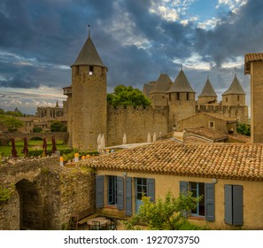 Inside the old City of Carcassonne