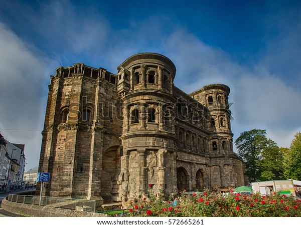 Inside the old romanian castle Porta Nigra at the german town of Trier
