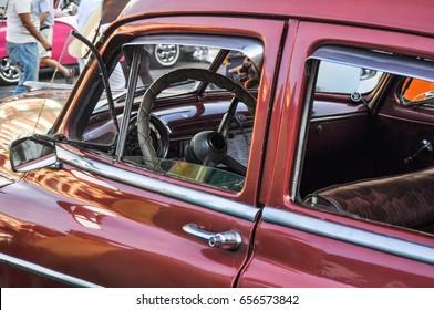 inside a older car