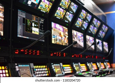 Inside an outside broadcasting truck: camera control and shaders