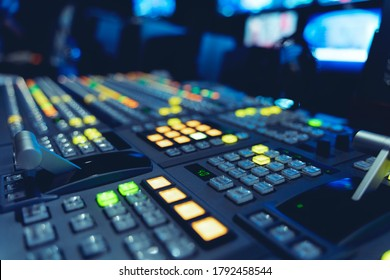 Inside an outside broadcasting truck: Video Switcher