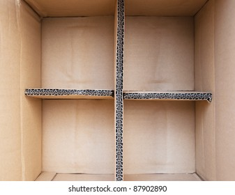 Inside paper box for background