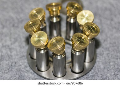 inside part piston & slipper of hydraulic pump on table
