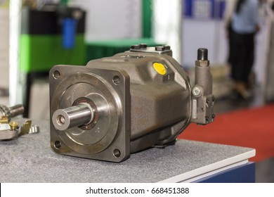 inside part piston and slipper of hydraulic pump on table
