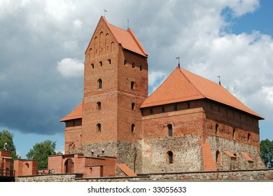 Inside part of Trakai castle, Lithuania