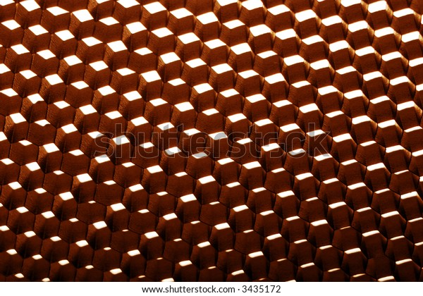 inside pattern of a photographic metallic diffuser