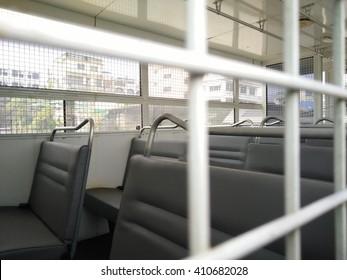 inside prison bus