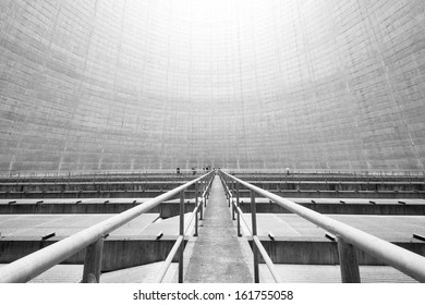 Inside the Reactor Cooling Tower