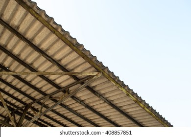 inside roof view and blue sky