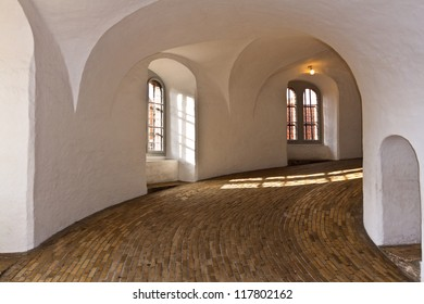 Inside of Round Tower in Copenhagen, Denmark