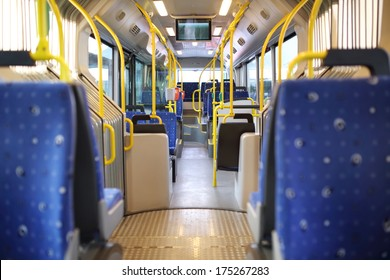 inside of Route Bus in Dubai, UAE