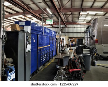 Inside a RV Maintenance Garage