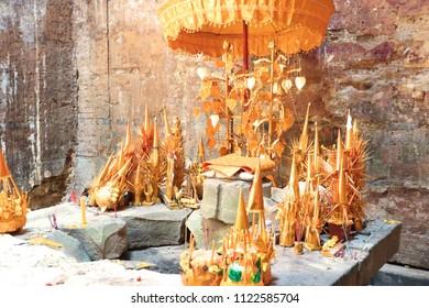Inside of Sambor Prei Kuk Temple, Cambodia