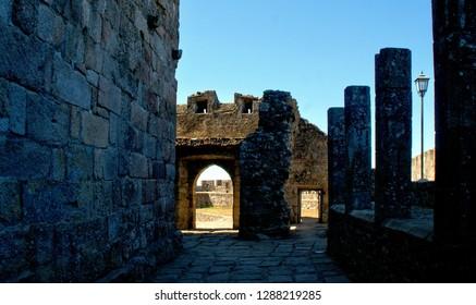 Inside Santa Maria da feira castle, Portugal