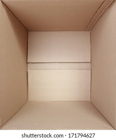 inside of a square Cardboard box