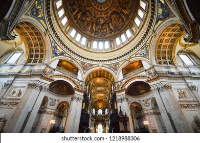Inside St Paul's Cathedral in London, interior