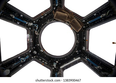 inside of a starcraft starship Isolated on white Elements of this image furnished by NASA.