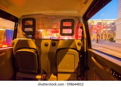 Inside the taxi, Baku, Azerbaijan