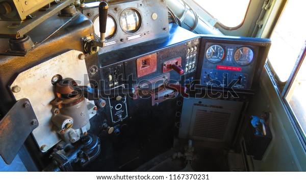 Inside Train Engine Stock Photo (Edit Now) 1167370231