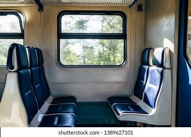 Inside the train in Russia