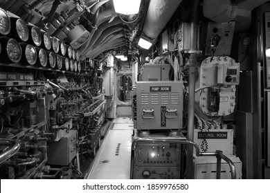 Inside the U.S.S Becuna Submarine