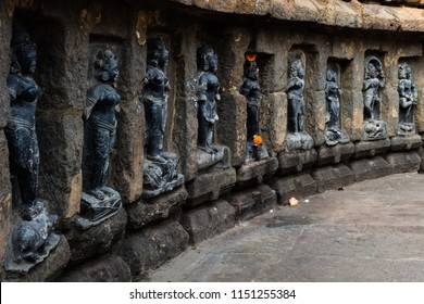 Inside view of the Chausathi Jogini Temple, Hirapur near Bhubaneswar, Odisha, India