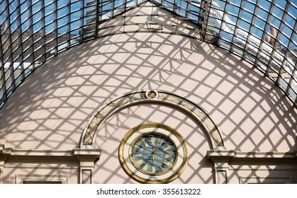 inside view, roof of Royal Galleries of Saint-Hubert,Brussels