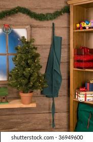 Inside View of Santa Claus' Workshop