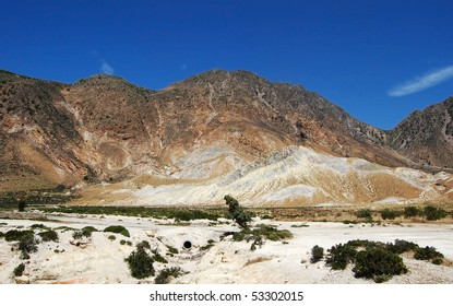 Inside a volcanic crater on the Greek Island of Nisyros