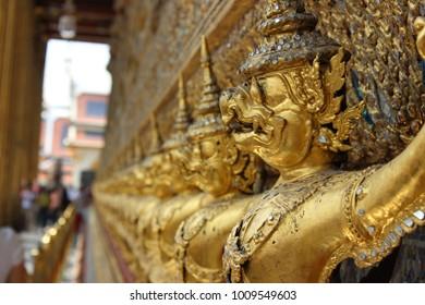 inside a wat in thailand