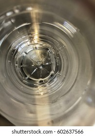 Inside water bottle , round texture