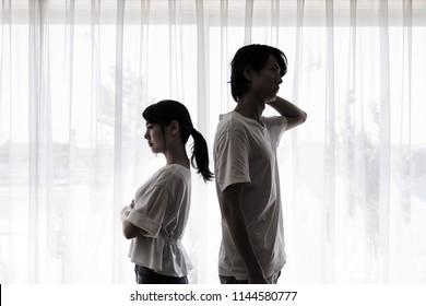 Insidious couple concept.