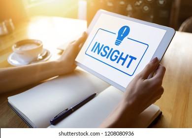 Insight on screen. Business Finance Technology Internet Concept.