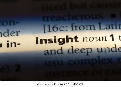 insight word in a dictionary. insight concept.