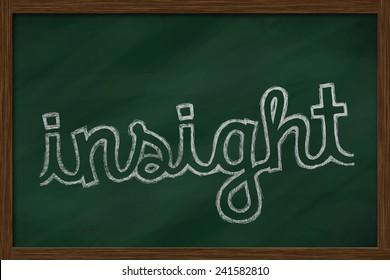 insight word written on chalkboard