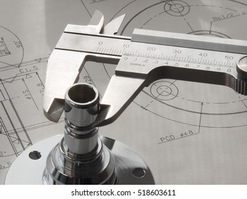 Inspection of the metal parts by the vernier caliper